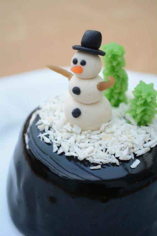 Snekugle med snemand uden gelatinekugle