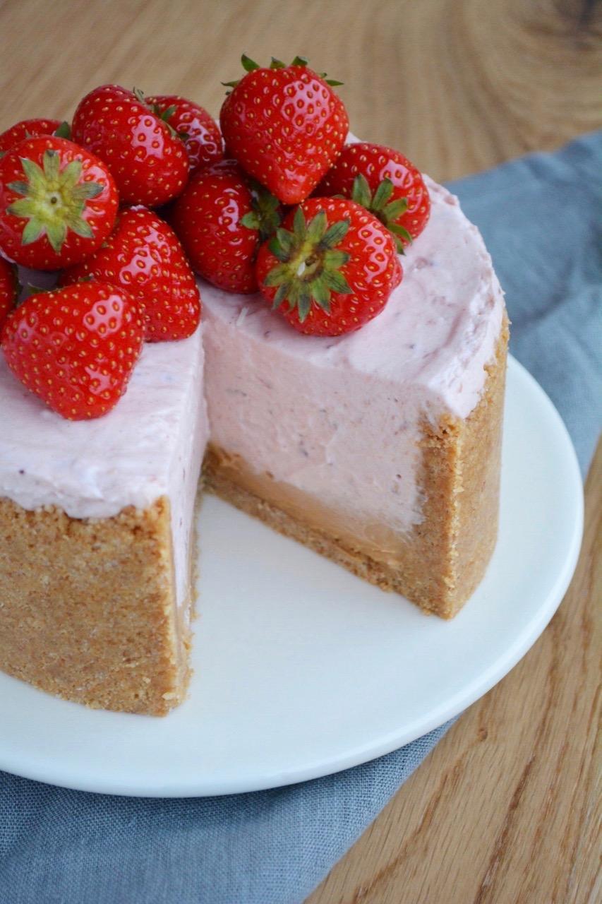 Cheesecake med jordbær