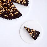 Chokoladetærte med peanuts