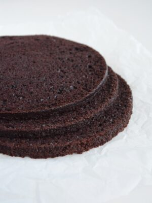 Lagkagebunde med chokolade