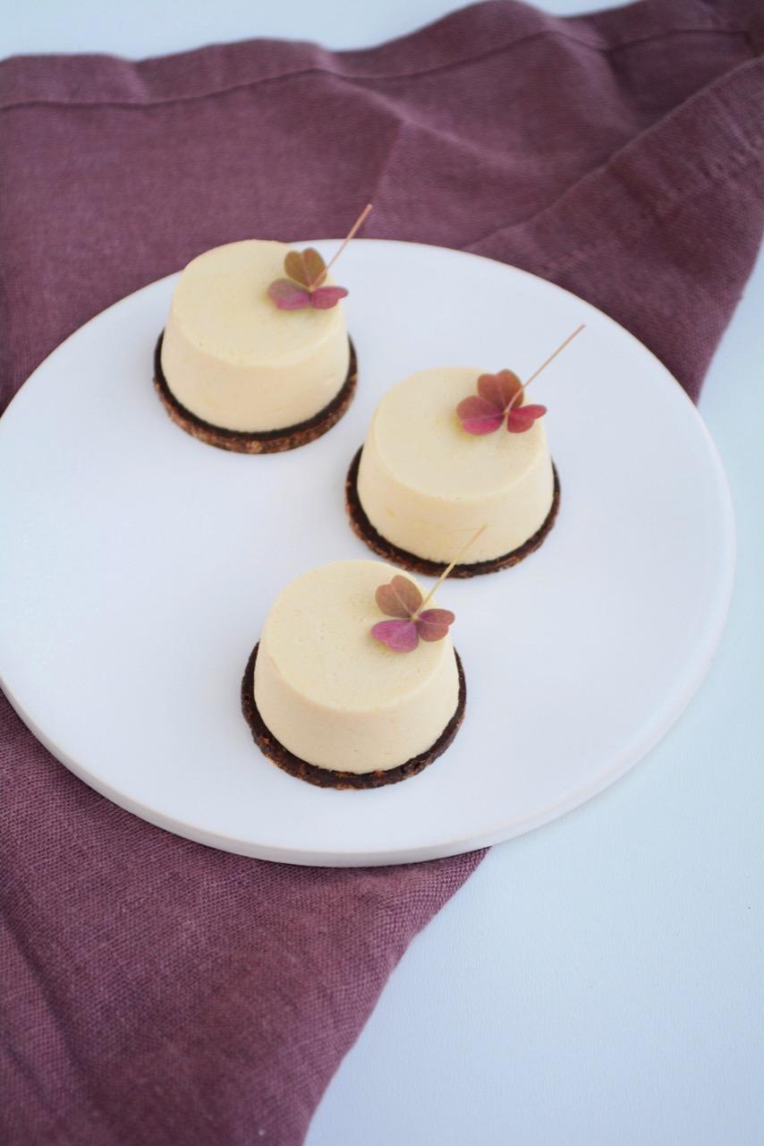 Karamelmousse med chokoladebund